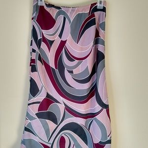 Briggs New York Multicolor Mid Length S Skirt